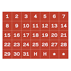 MasterVision Magnetic Calendar Dates 1 H