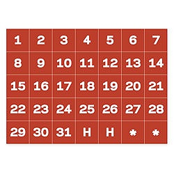 mastervision magnetic calendar dates 1 h set of 31 by office depot