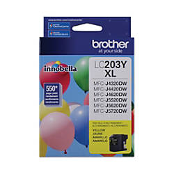 Brother High Yield Ink Cartridge Yellow