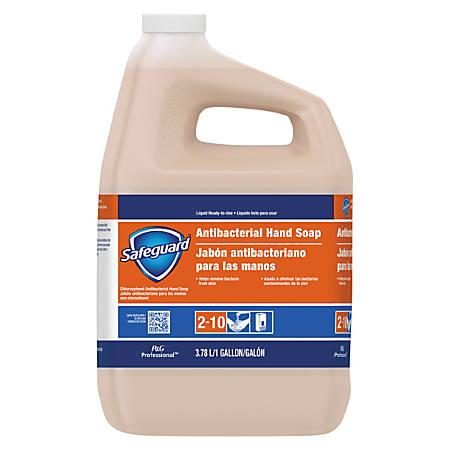 Safeguard Antibacterial Liquid Hand Soap, 1 Gallon Bottle, Carton Of 2 Bottles