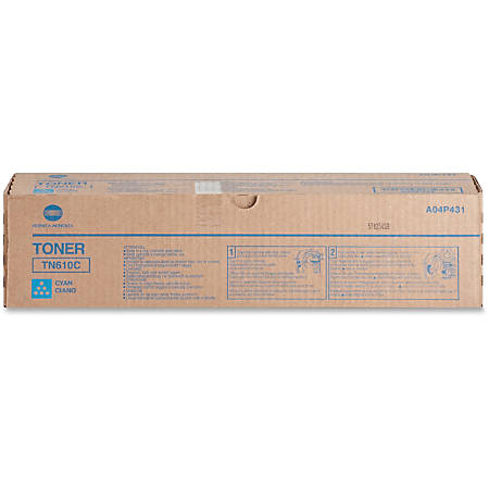 Konica Minolta TN-610C Original Toner Cartridge - Laser - High Yield - 26500 Pages - Cyan - 1 Each