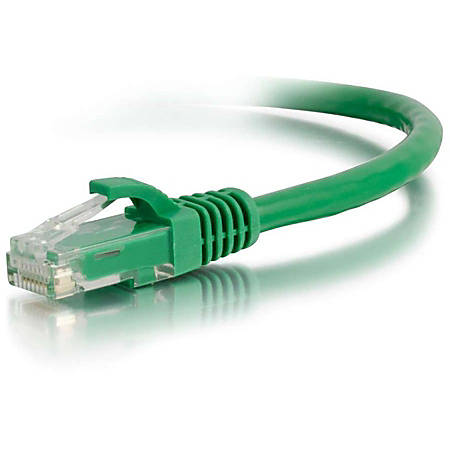 C2G-25ft Cat5e Snagless Unshielded (UTP) Network Patch Cable - Green
