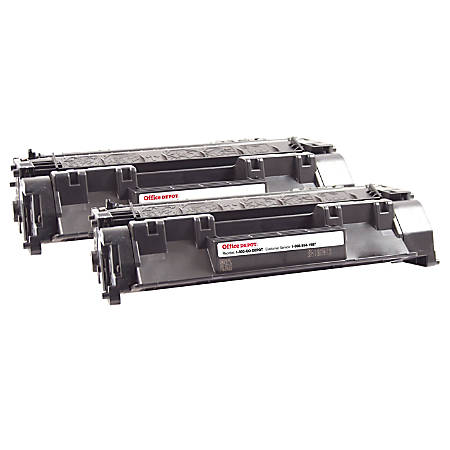 Office Depot® Brand OD80ADP Remanufactured Toner Cartridge Replacement For HP 80A Black, Pack Of 2