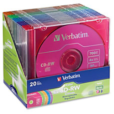 Verbatim CD RW Disc Spindle Assorted