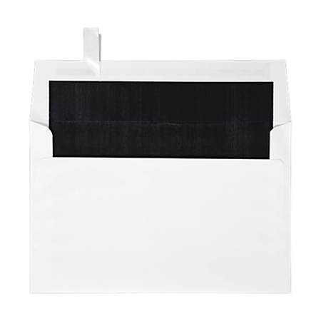 "LUX Invitation Envelopes With Peel & Press Closure, A9, 5 3/4"" x 8 3/4"", Black/White, Pack Of 250"