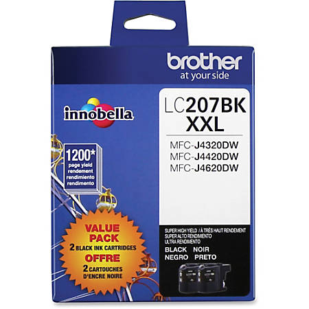 Brother® Extra-High-Yield Ink Cartridge, Black, Pack Of 2, LC2072PKS