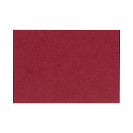 "LUX Mini Flat Cards, #17, 2 9/16"" x 3 9/16"", Garnet Red, Pack Of 1,000"