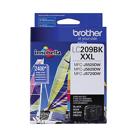 Brother® LC209BKS Extra-High-Yield Black Ink Cartridge