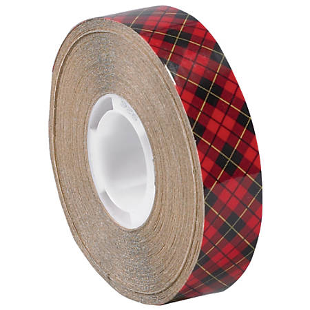 """Scotch® 926 Adhesive Transfer Tape, 1"""" Core, 0.25"""" x 18 Yd., Clear, Case Of 72"""