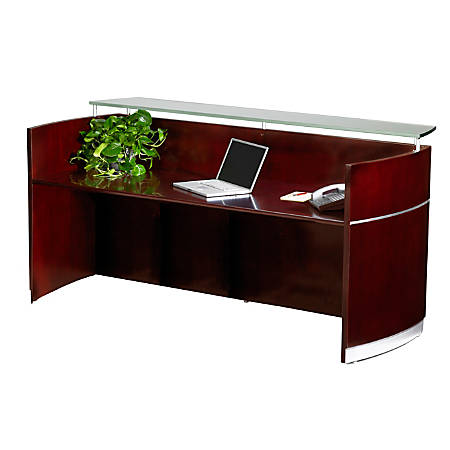 Mayline® Napoli Reception Station, Sierra Cherry