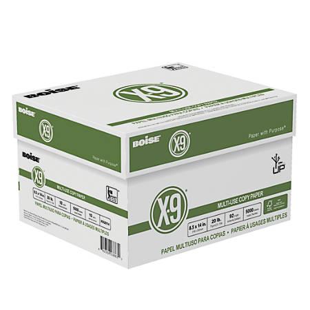 Boise® X-9® Multiuse Copy Paper, Legal Paper Size, FSC® Certified, 20 Lb, 500 Sheets Per Ream, Case Of 10 Reams