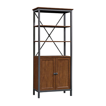Sauder® Carson Forge Bookcase With Doors, Milled Cherry