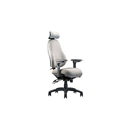 """Neutral Posture® 8500 High-Back Chair With Headrest, 46""""H x 26""""W x 26""""D, Gray"""