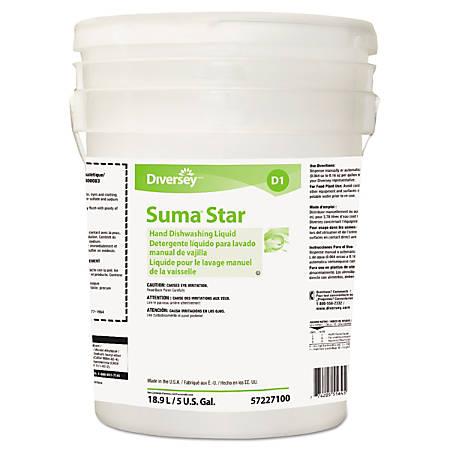 Diversey™ Suma® Star D1 Hand Dishwashing Detergent, Unscented, 640 Oz