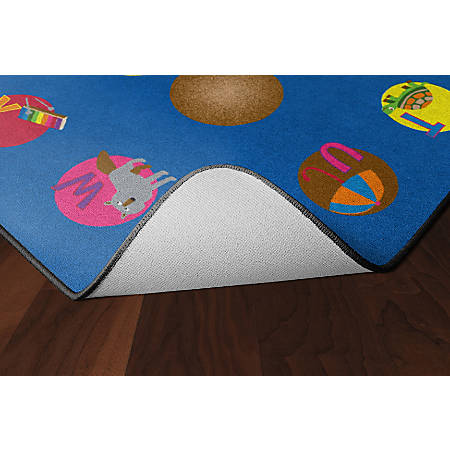 """Flagship Carpets Circle Time Learning Rug, Rectangle, 6' x 8' 4"""", Multicolor"""