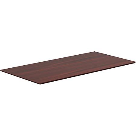"Lorell® Laminate Knife-Edge Table Top, 60""W x 24""D,  Mahogany"