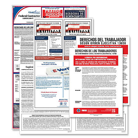 ComplyRight Federal Contractor Poster Subscription Service, Spanish