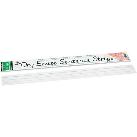 Pacon® Dry-Erase Sentence Strips, White, Pack Of 30