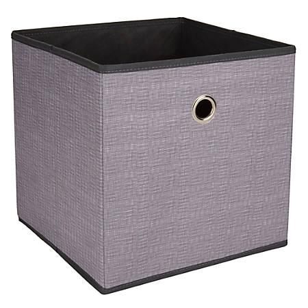 "Realspace® Storage Cube, 12"" x 12"" x 12"", Charcoal"