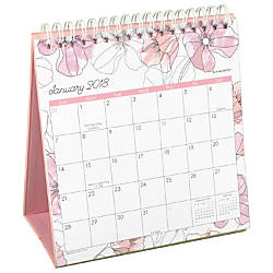 AT A GLANCE Blush Monthly Easel