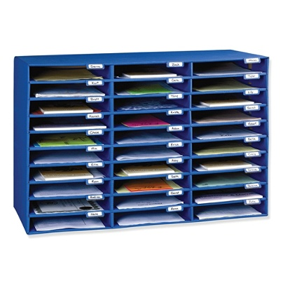 Pacon® 70% Recycled Corrugated Mail Box, 30 Slots, Blue Item # 388437