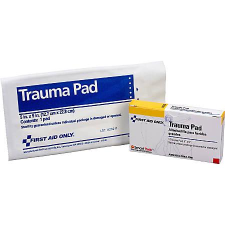 "First Aid Only Trauma Dressing Pad, 5"" x 9"", White"