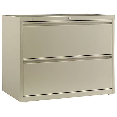 "Bush Business Furniture Synchronize 1000 2 Drawer Lateral Metal File Cabinet, 36""W, Putty, Premium Installation"