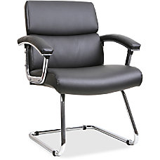 Lorell Bonded LeatherChrome Guest Chair Black