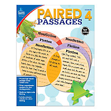 Carson Dellosa Paired Passages Workbook Grade