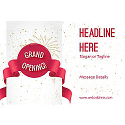 Adhesive Sign Grand Opening Celebration Horizontal