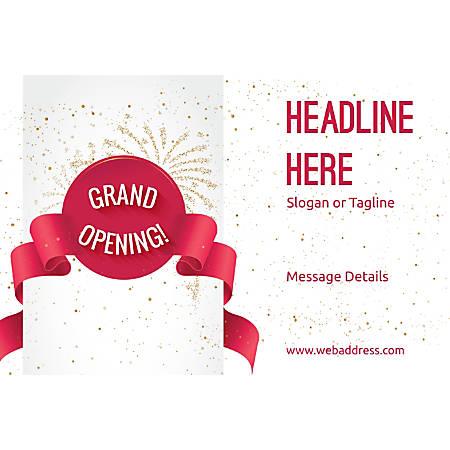 Adhesive Sign, Grand Opening Celebration, Horizontal