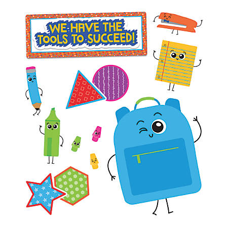 Carson-Dellosa School Tools We Have the Tools to Succeed! Bulletin Board Set, Multicolor, Grades Pre-K - 2