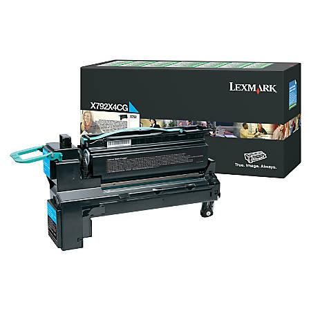 Lexmark X792X4CG Extra-High-Yield Return Program Cyan Toner Cartridge
