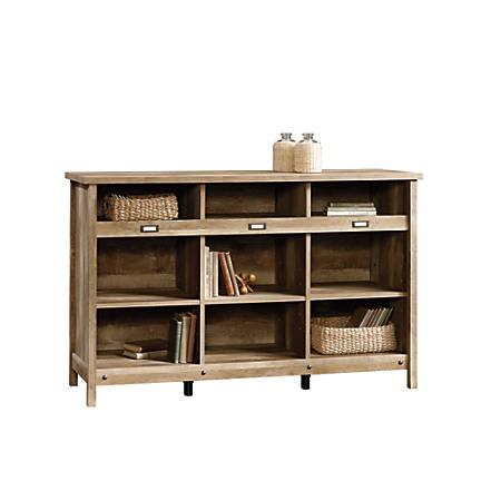 Sauder® Adept Storage Credenza, 9 Shelves, Craftsman Oak