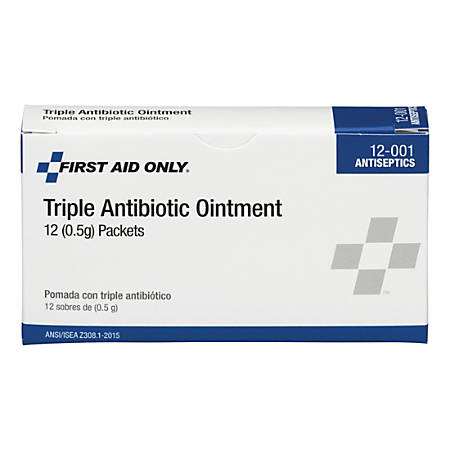"First Aid Only™ BZK Antiseptic Towelettes, 2"" x 2"", White, Box Of 10"