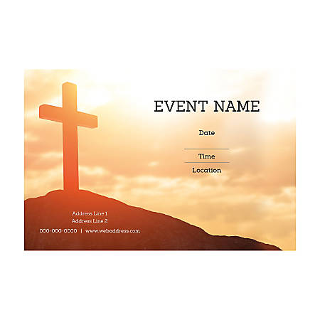 Plastic Sign Template, Holy Sky, Horizontal