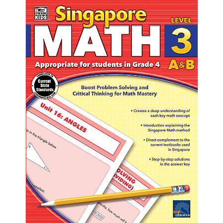 Thinking Kids'® Singapore Math Workbook, Grade 4
