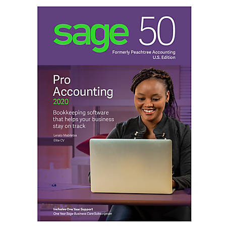 SAGE 50 Pro Accounting 2020 Software, Traditional Disc