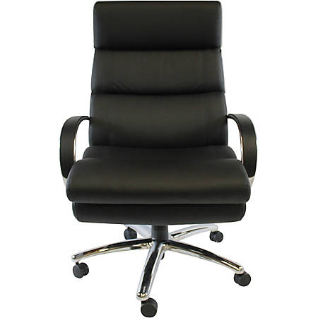 Boss Office Products Heavy-Duty High-Back Chair, Black/Chrome