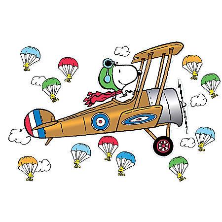 Eureka Peanuts® Giant Flying Ace Snoopy Bulletin Board Set, Multicolor, Pre-K - Grade 3
