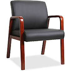 Lorell Wood Guest Chair Black Bonded
