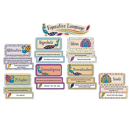 Carson-Dellosa You-Nique Figurative Language Mini Bulletin Board Set, Multicolor, Grades 3-5