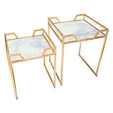 Zuo Modern Faux Marble Accent Tables