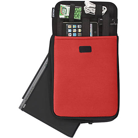 """Cocoon CNS343RD Carrying Case (Sleeve) for 10.2"""" Netbook - Racing Red - Neoprene, Ballistic Nylon - 11.4"""" Height x 1.6"""" Width x 8.3"""" Depth"""