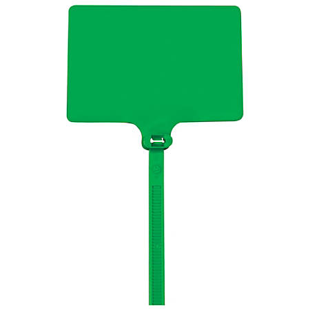 "Office Depot® Brand Identification Cable Ties, 9"", Green, Case Of 100"
