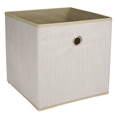 "Realspace® Storage Cube, 12"" x 12"" x 12"", Herringbone Sand"