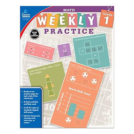 Carson-Dellosa™ Math Weekly Practice Workbook, Grade 1