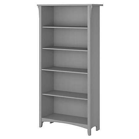 Bush Furniture Salinas 5 Shelf Bookcase, Cape Cod Gray, Standard Delivery