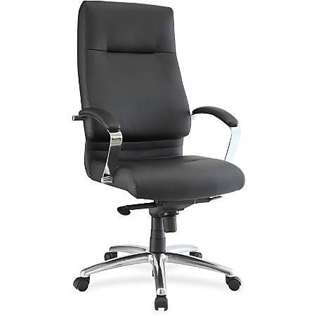 Lorell® Modern Executive High-Back Chair, Black