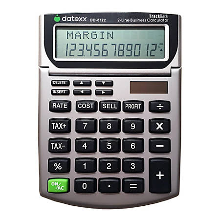 Datexx DD-6122 2-Line TrackBack Business Mini Desktop Calculator